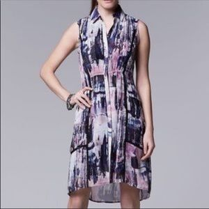 Simply Vera Vera Wang watercolor shirt dress